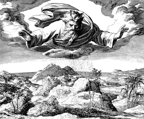 erschaffung der welt bibel