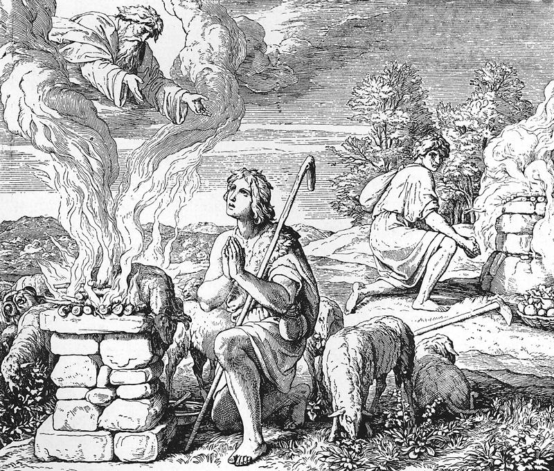Bilder der Bibel - Die Opfer Kains und Abels