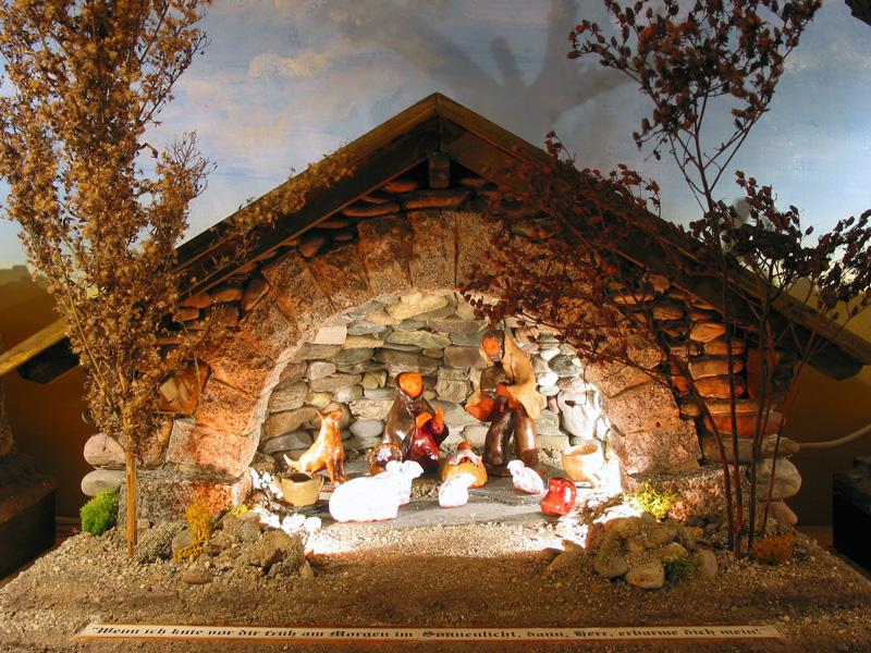 El mensaje del ni o pesebres de navidad belenes for Nacimiento belen
