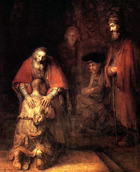 Rembrandt nativity scene