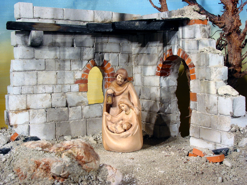 House Nativity Scene