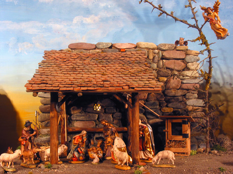 Barn Nativity Scene
