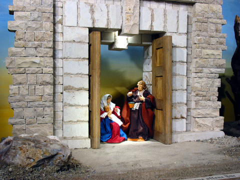Door Nativity Scene
